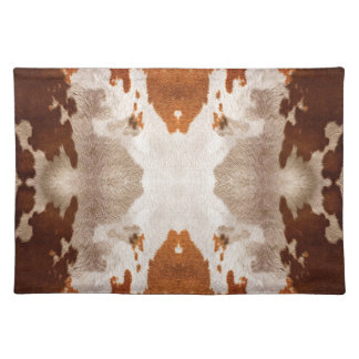 Kaleidoscope Cow Hide Pattern Placemat