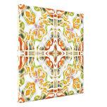 Kaleidoscope & Creme Canvas Prints