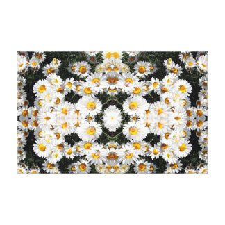 Kaleidoscope Daisies Pattern 2 Canvas Print