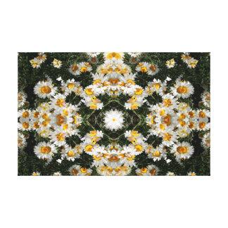 Kaleidoscope Daisies Pattern 3 Canvas Print