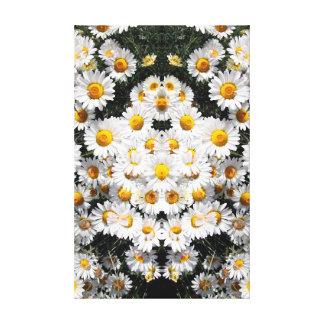 Kaleidoscope Daisies Pattern Canvas Print