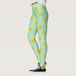 Kaleidoscope Daisy Abstract Leggings