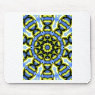 Kaleidoscope Decoration Blue Yellow Mouse Pad