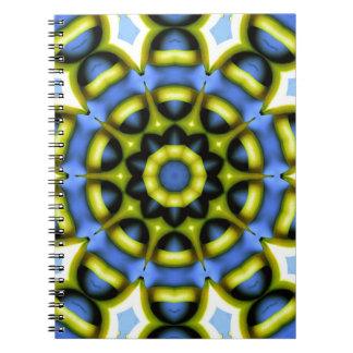 Kaleidoscope Decoration Blue Yellow Note Book