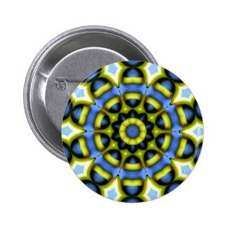 Kaleidoscope Decoration Blue Yellow Pins
