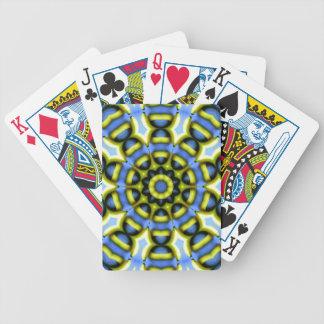 Kaleidoscope Decoration Blue Yellow Playing Cards