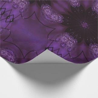 Kaleidoscope Design Chic Elegant Shiny Purple Wrapping Paper
