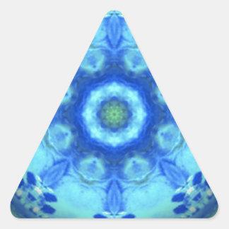 kaleidoscope design image-blue triangle sticker