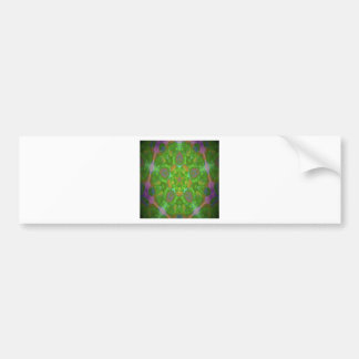 kaleidoscope design image car bumper sticker