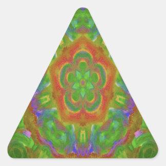 kaleidoscope design image green triangle sticker