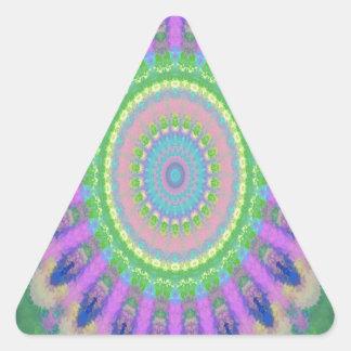 kaleidoscope design image light purple triangle sticker