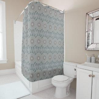 Kaleidoscope Design Light Gray Circles Shower Curtain