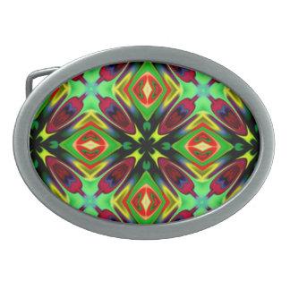 Kaleidoscope Design Oval Belt Buckles