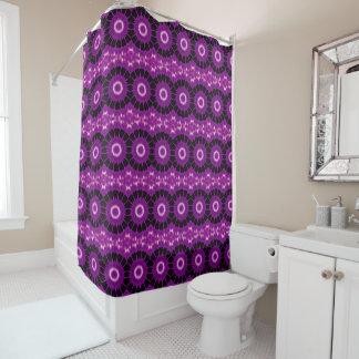 Kaleidoscope Design Pink Purple Black Circles Shower Curtain