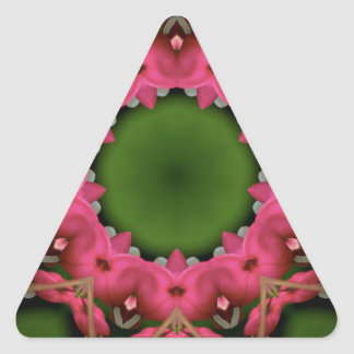 Kaleidoscope design product image-made with love triangle sticker