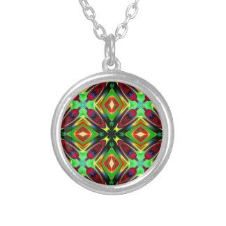 Kaleidoscope Design Round Pendant Necklace