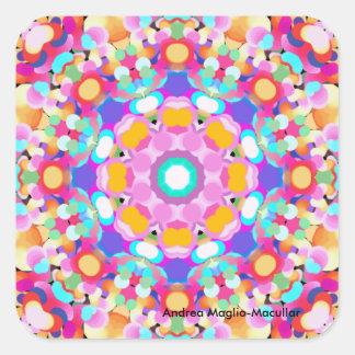 Kaleidoscope Design Series Square Sticker