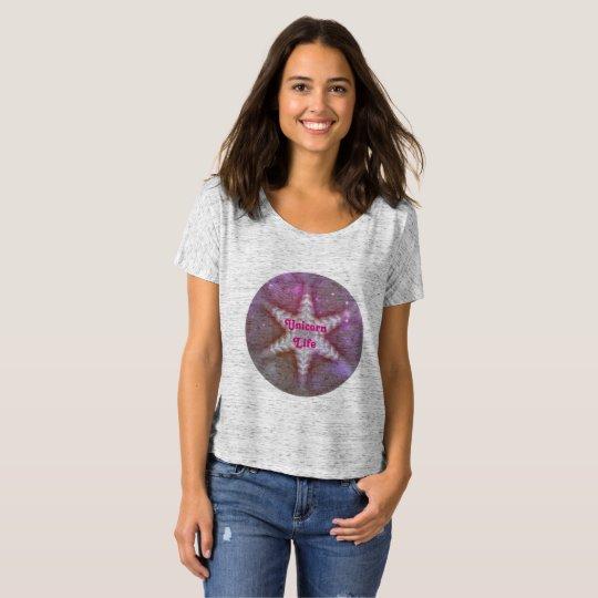 Kaleidoscope Design Unicorn Life by Stacey Lynn T-Shirt