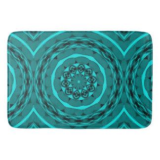 Kaleidoscope Designed Bathmat in Teal