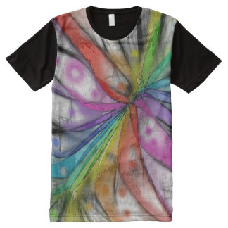 Kaleidoscope Dragonfly All-Over Print T-Shirt