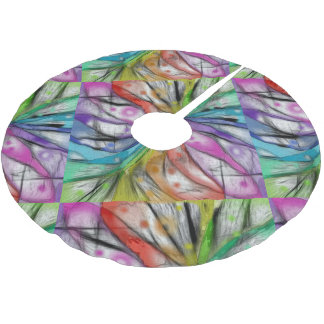 Kaleidoscope Dragonfly Brushed Polyester Tree Skirt
