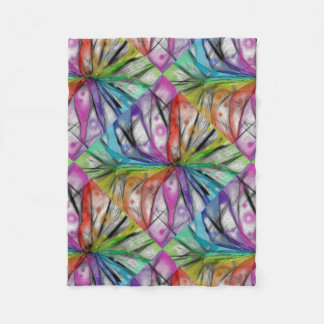 Kaleidoscope Dragonfly Fleece Blanket