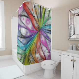 Kaleidoscope Dragonfly Shower Curtain