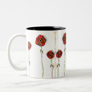 Kaleidoscope Dreams Two-Tone Coffee Mug