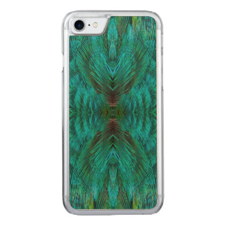 Kaleidoscope Feather Design Carved iPhone 7 Case