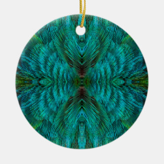 Kaleidoscope Feather Design Christmas Ornament