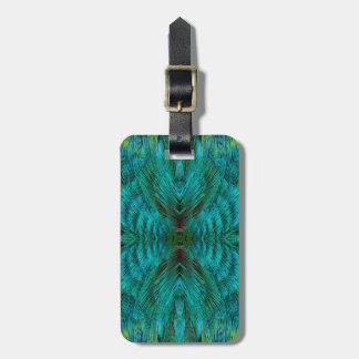 Kaleidoscope Feather Design Luggage Tag