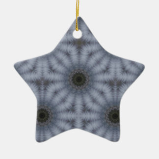 Kaleidoscope Floral Circles, Gray Christmas Ornament