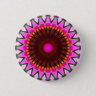 Kaleidoscope Floral Mandala in Hungary: Ed. 197.6 6 Cm Round Badge