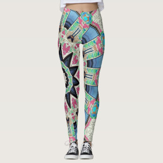Kaleidoscope Floral Mandala in Vienna: Ed. 220.9 Leggings