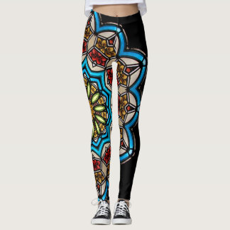 Kaleidoscope Floral Mandala in Vienna: Ed. 221.7 Leggings