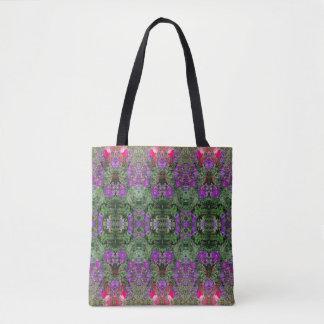 Kaleidoscope Flower Pattern 17 Medium Tote Bag