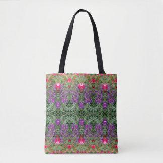 Kaleidoscope Flower Pattern 18 Medium Tote Bag