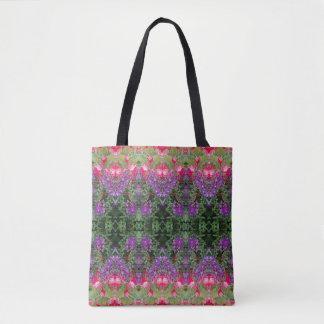 Kaleidoscope Flower Pattern 19 Medium Tote Bag