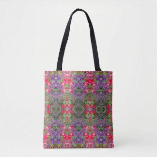 Kaleidoscope Flower Pattern 21 Medium Tote Bag