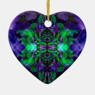 Kaleidoscope flower pattern christmas ornament