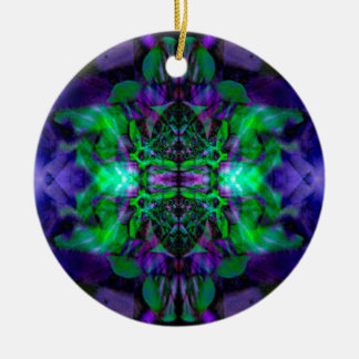 Kaleidoscope flower pattern christmas ornament
