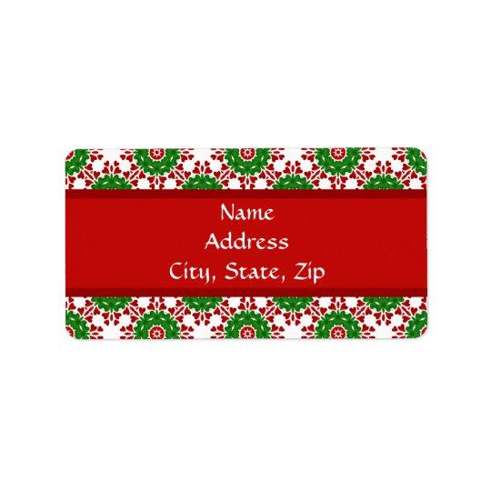 Kaleidoscope for Christmas Address Label