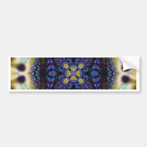 Kaleidoscope Fractal 235 Bumper Stickers
