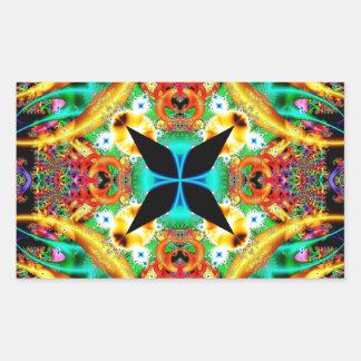 Kaleidoscope Fractal 314 Rectangular Sticker