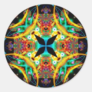Kaleidoscope Fractal 314 Round Sticker
