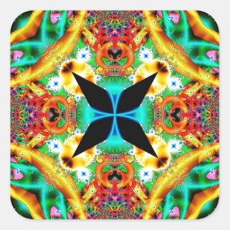 Kaleidoscope Fractal 314 Square Sticker