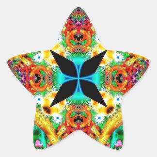 Kaleidoscope Fractal 314 Star Sticker