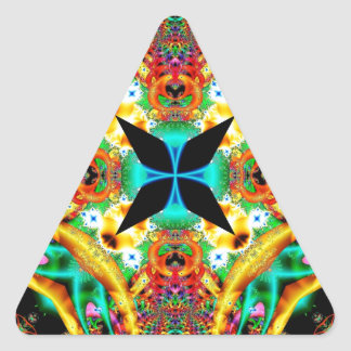 Kaleidoscope Fractal 314 Triangle Sticker