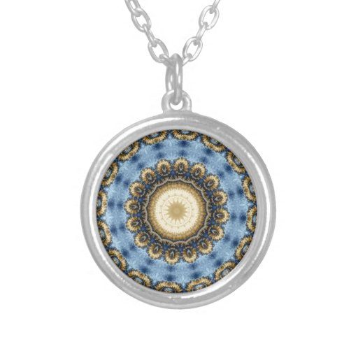 Kaleidoscope Fractal 369 Personalized Necklace