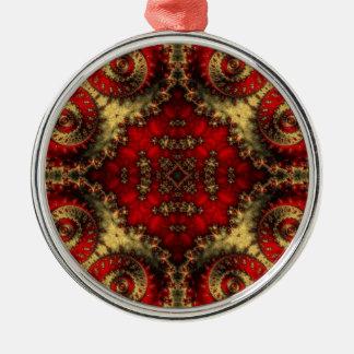 Kaleidoscope Fractal 370 Christmas Ornament